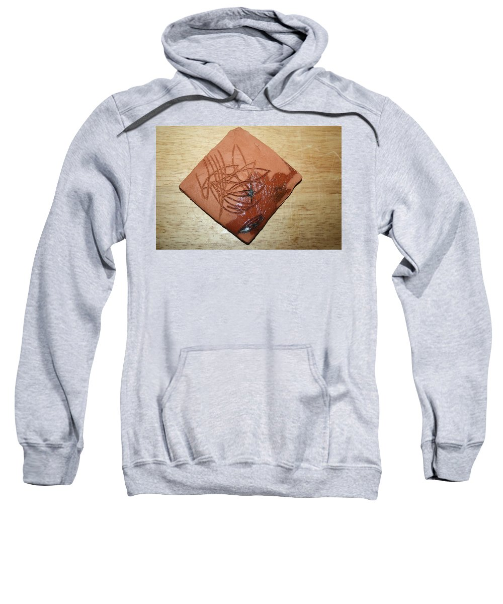 Jesus Sweatshirt featuring the ceramic art Morning After -tile by Gloria Ssali