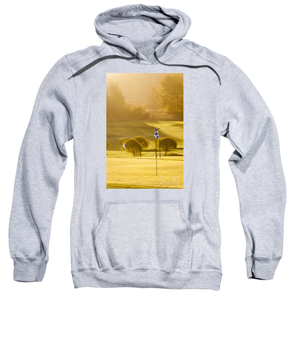 Espoo Sweatshirt featuring the photograph Morning At Golf Course by Lasse Ansaharju