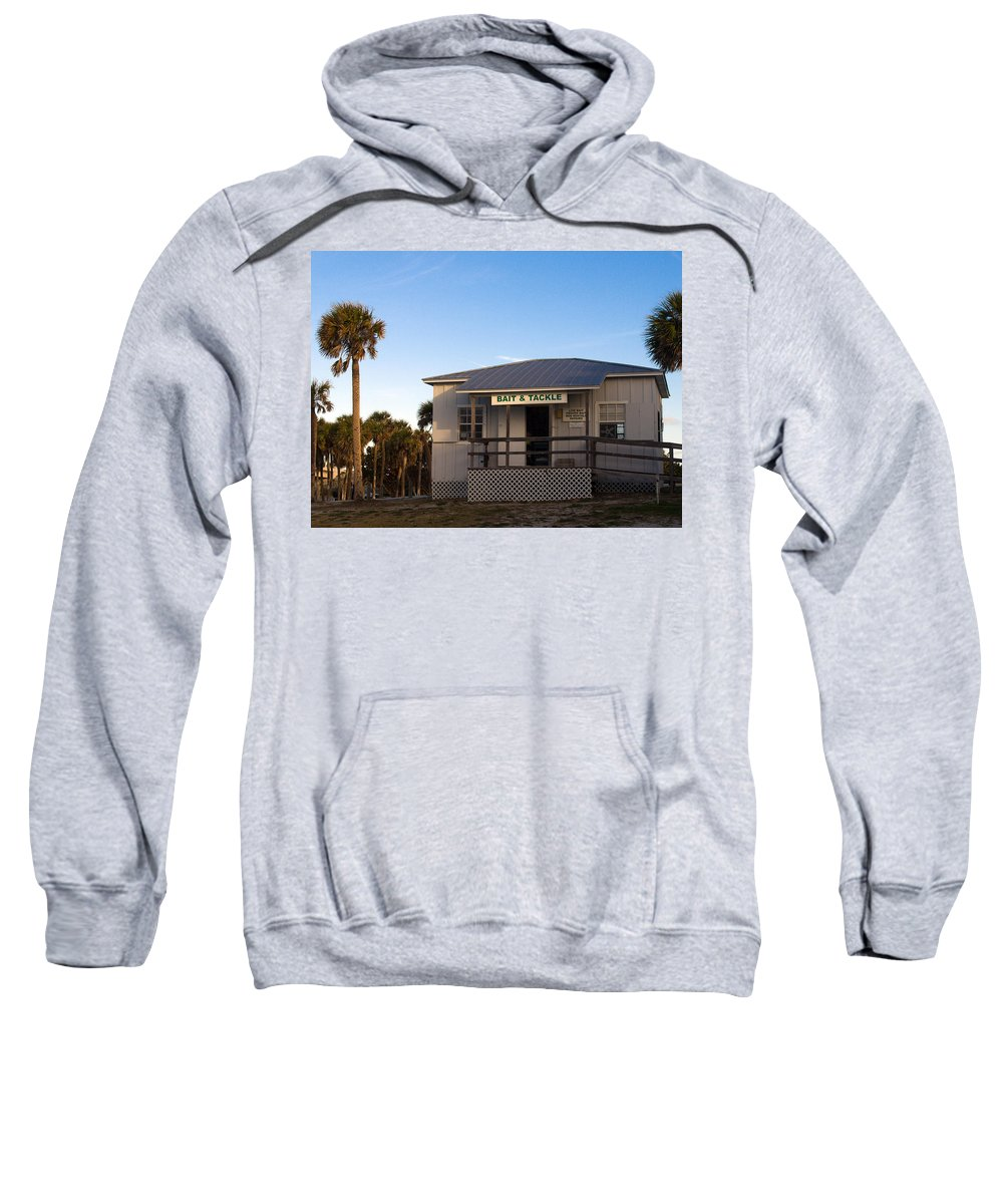 Morning Sweatshirt featuring the photograph Morning At Sebastian Inlet In Florida by Allan Hughes