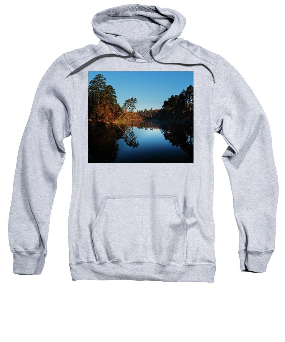 Landscape Sweatshirt featuring the photograph Morning At The Lake by Aleksandr Syniushko