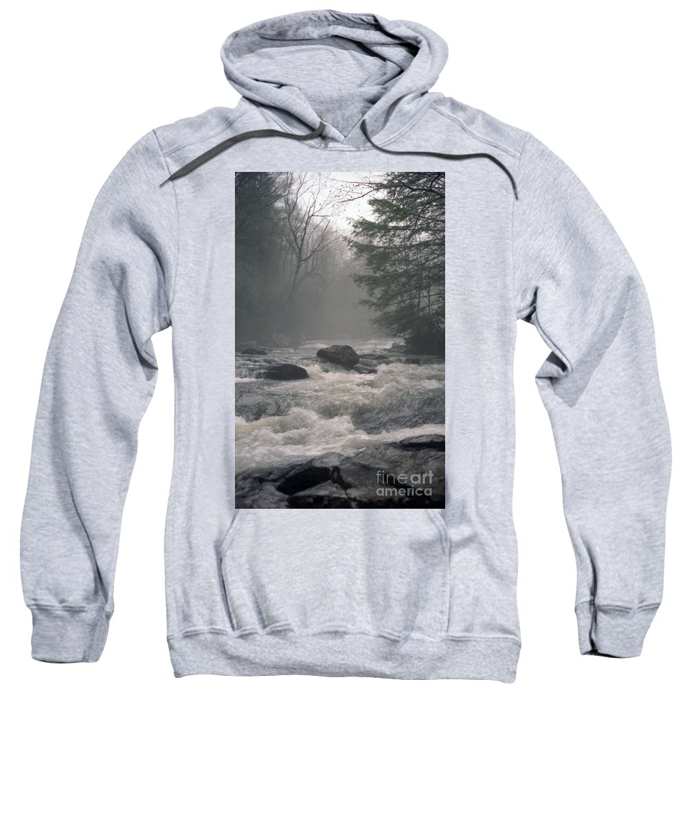 Rivers Sweatshirt featuring the photograph Morning At The River by Richard Rizzo