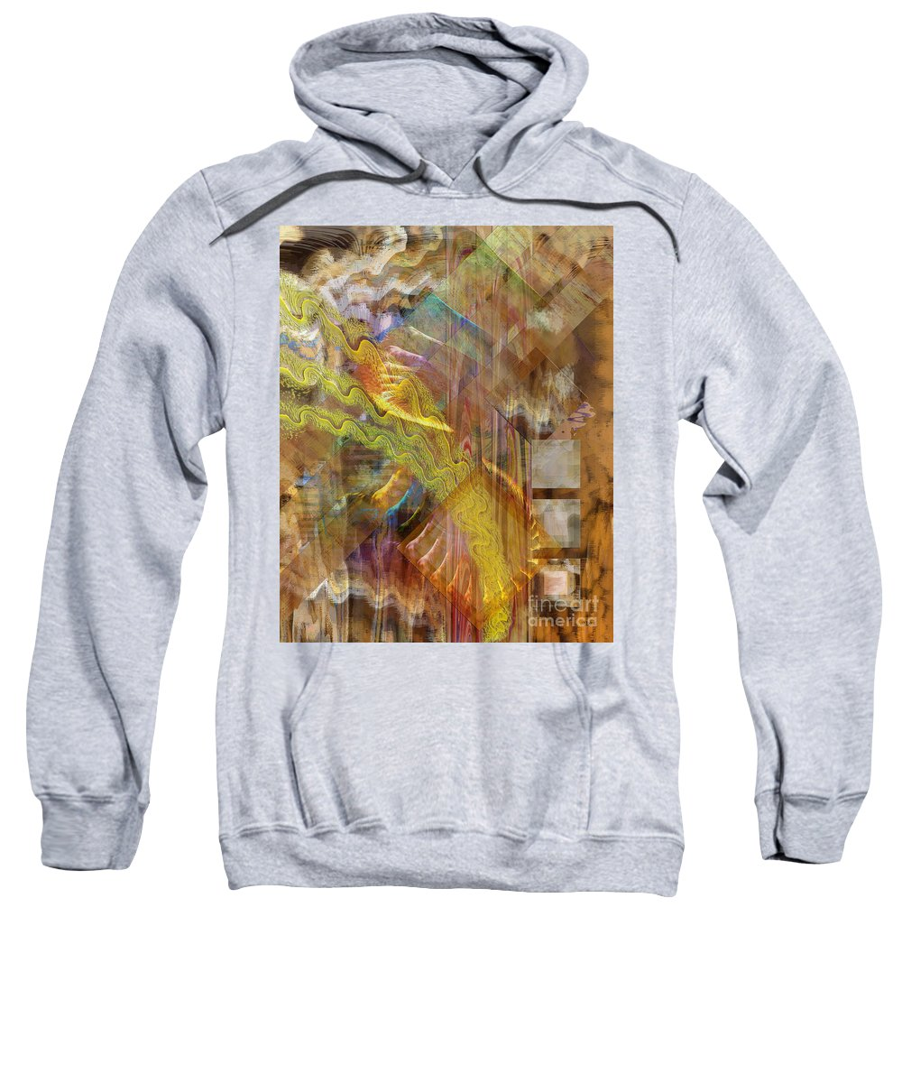 Morning Dance Sweatshirt featuring the digital art Morning Dance by John Beck