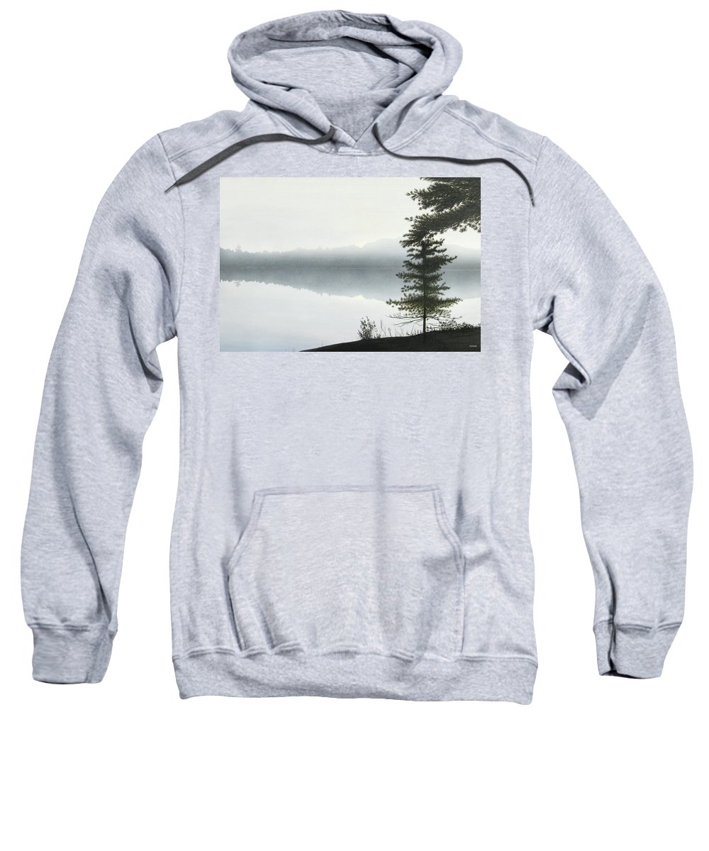 Landscapes Sweatshirt featuring the painting Morning Fog by Kenneth M Kirsch