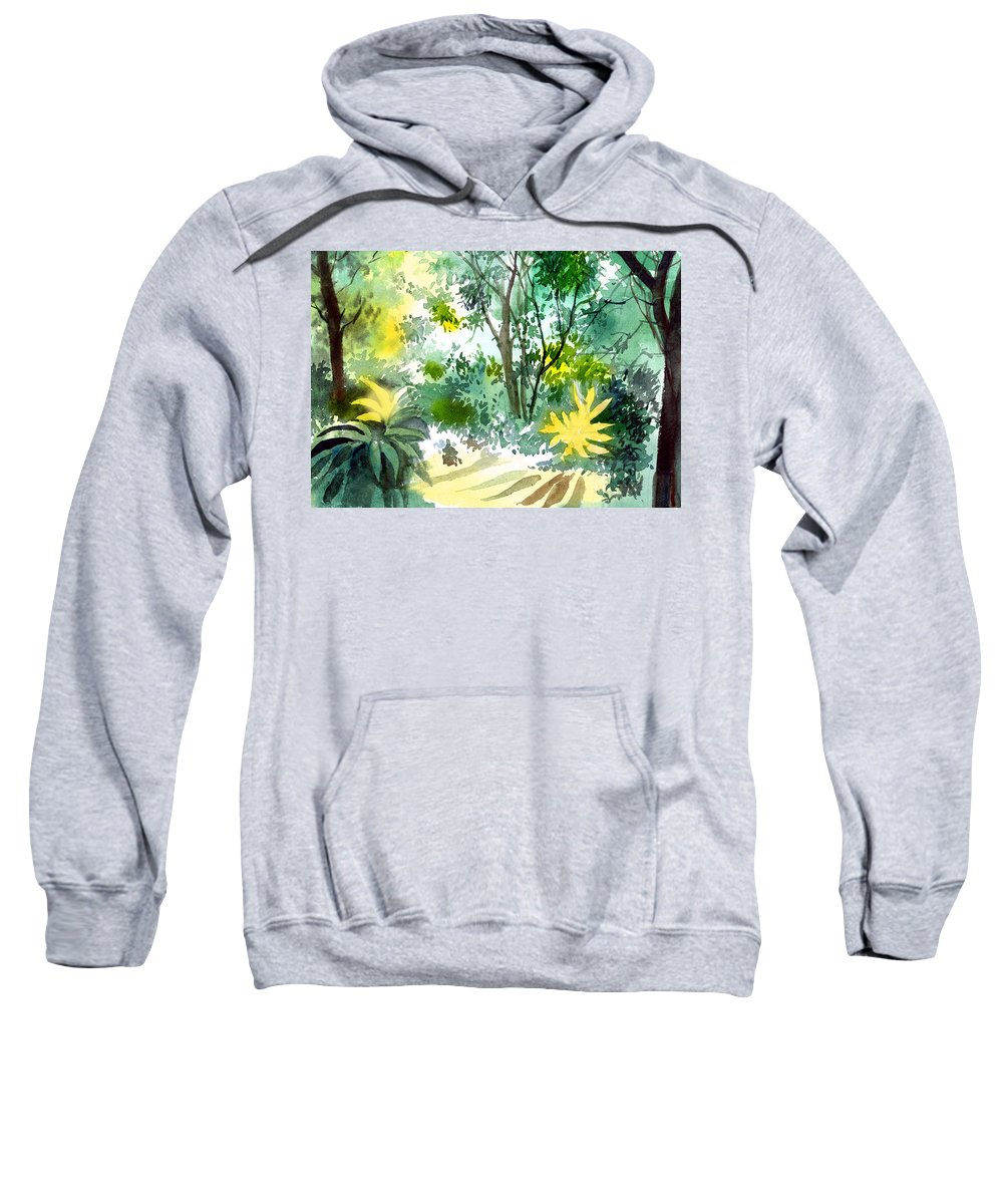Landscape Sweatshirt featuring the painting Morning Glory by Anil Nene