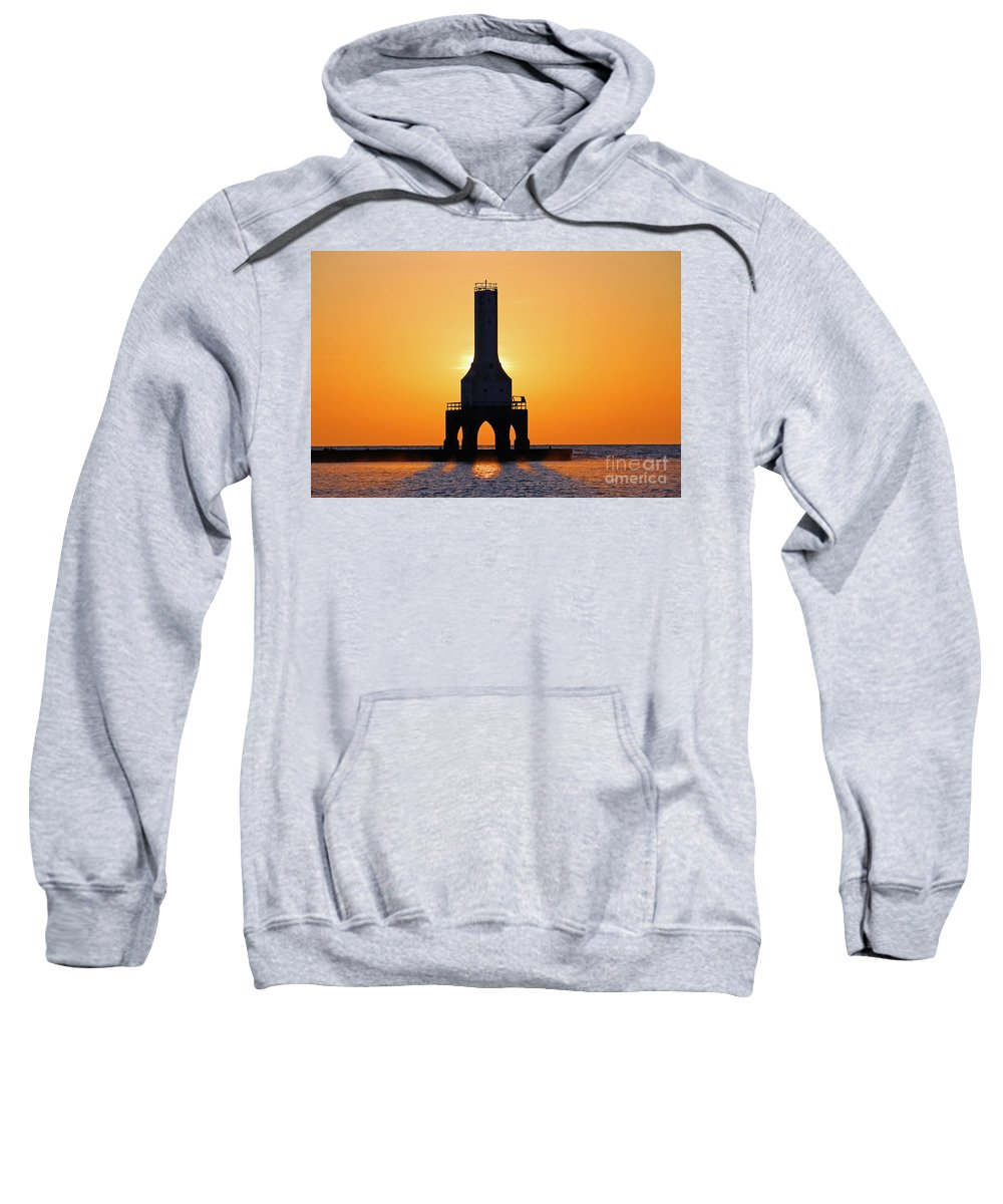 Lighthouse Sweatshirt featuring the photograph Morning Glory by Eric Curtin