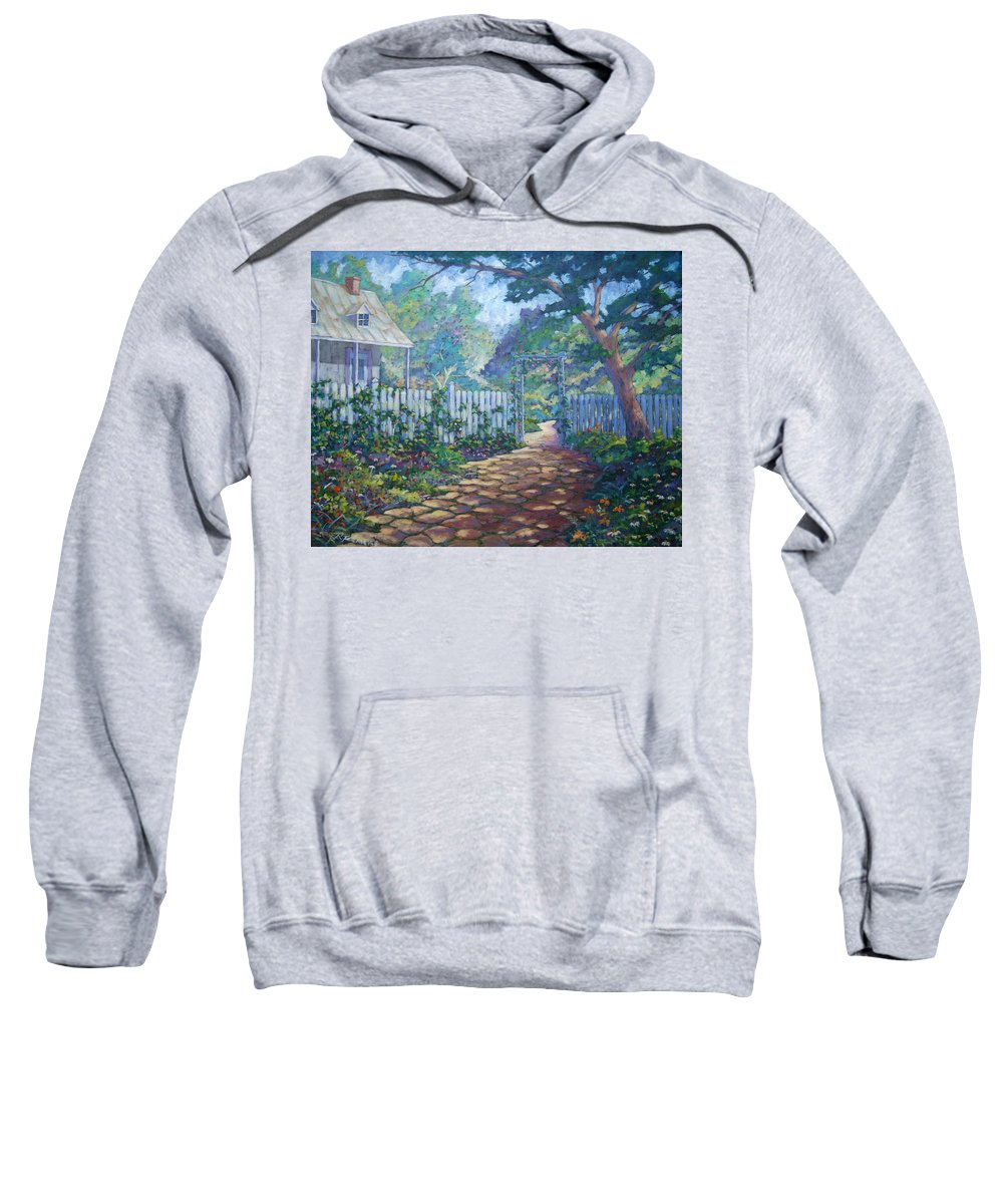 Painter Art Sweatshirt featuring the painting Morning Glory by Richard T Pranke