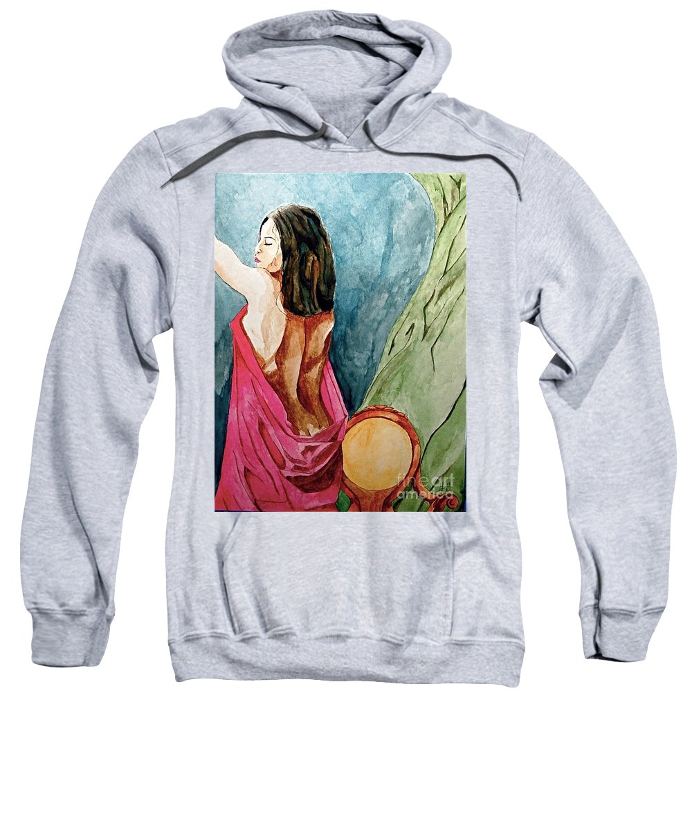 Nudes Women Sweatshirt featuring the painting Morning Light by Herschel Fall