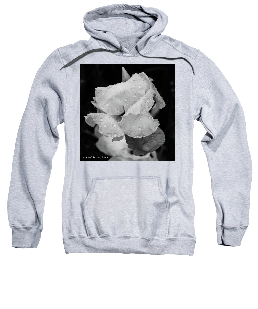 Flowers Sweatshirt featuring the photograph Morning Rain Drops by Danny Baum
