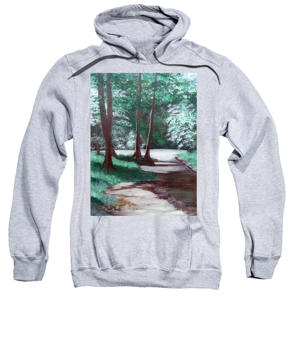 Landscape Sweatshirt featuring the painting Morning Sabattical by Sandra Bell
