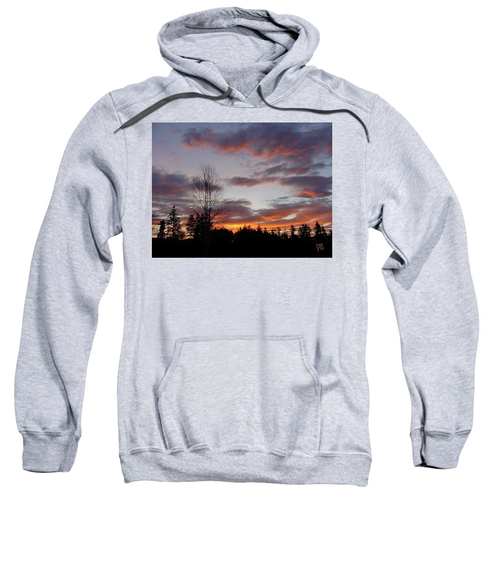 Sun Sweatshirt featuring the photograph Morning Silhouetted - 1 by Shirley Heyn