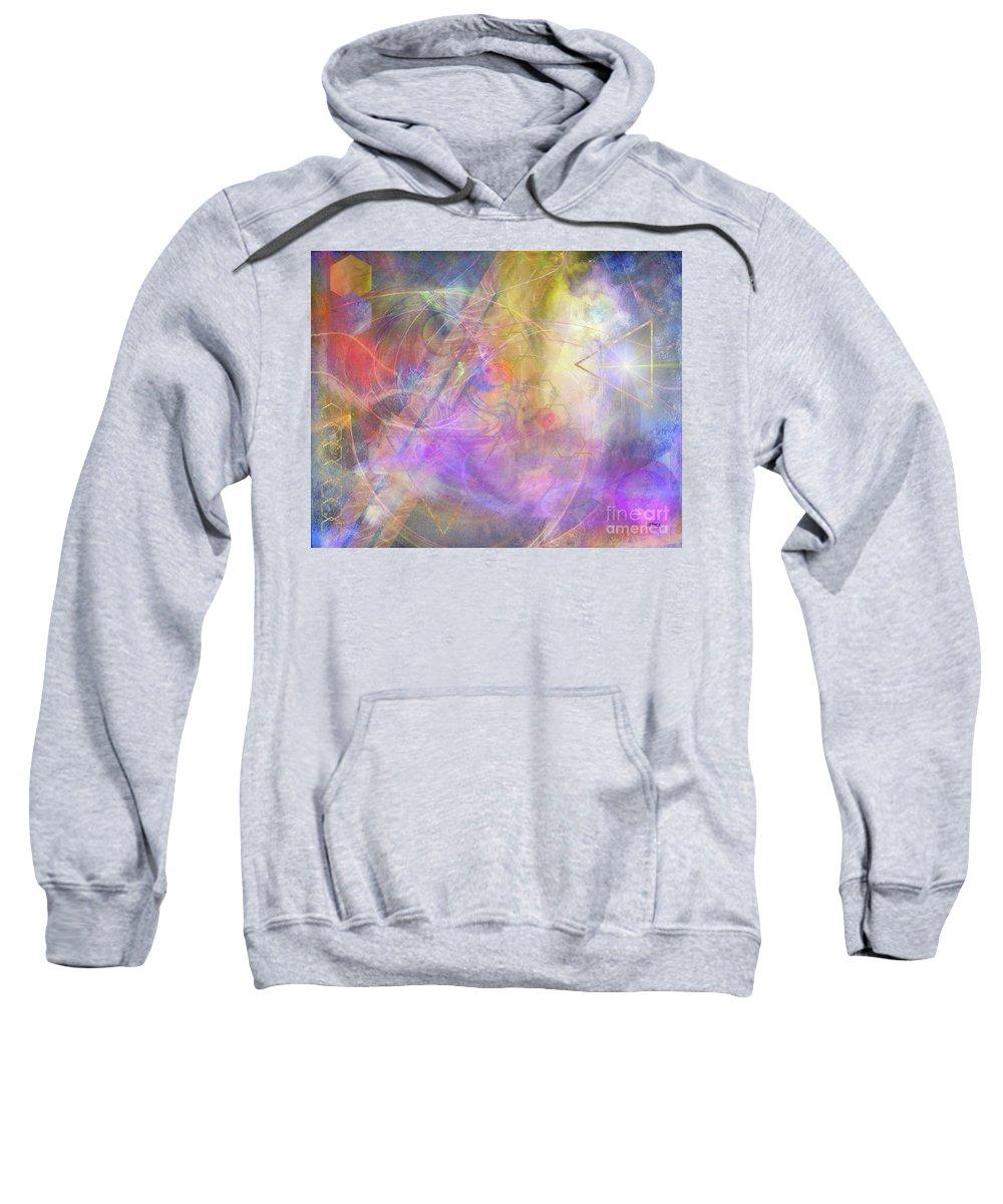 Morning Star Sweatshirt featuring the digital art Morning Star by John Beck