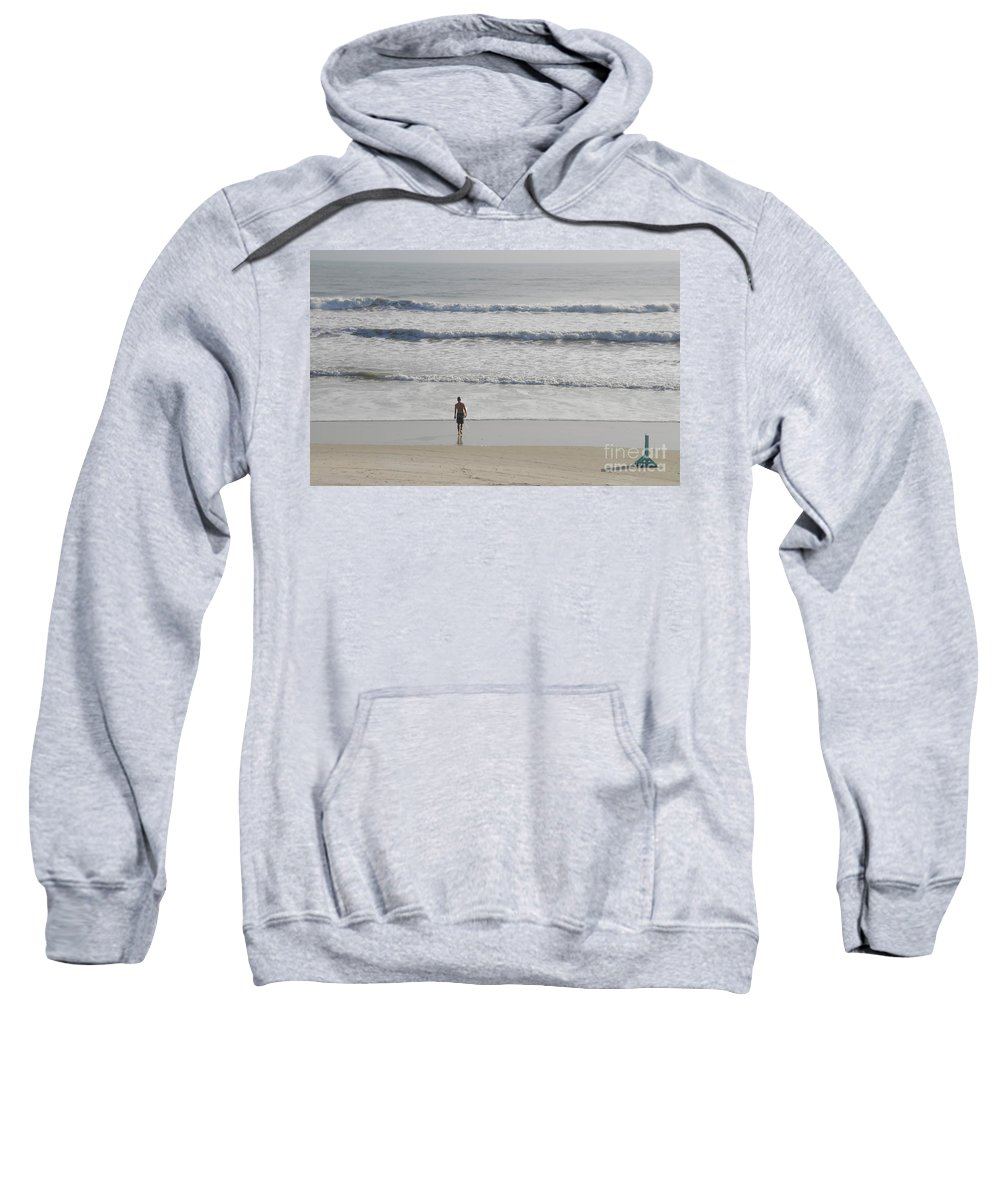 Surfing Sweatshirt featuring the photograph Morning Surf by David Lee Thompson