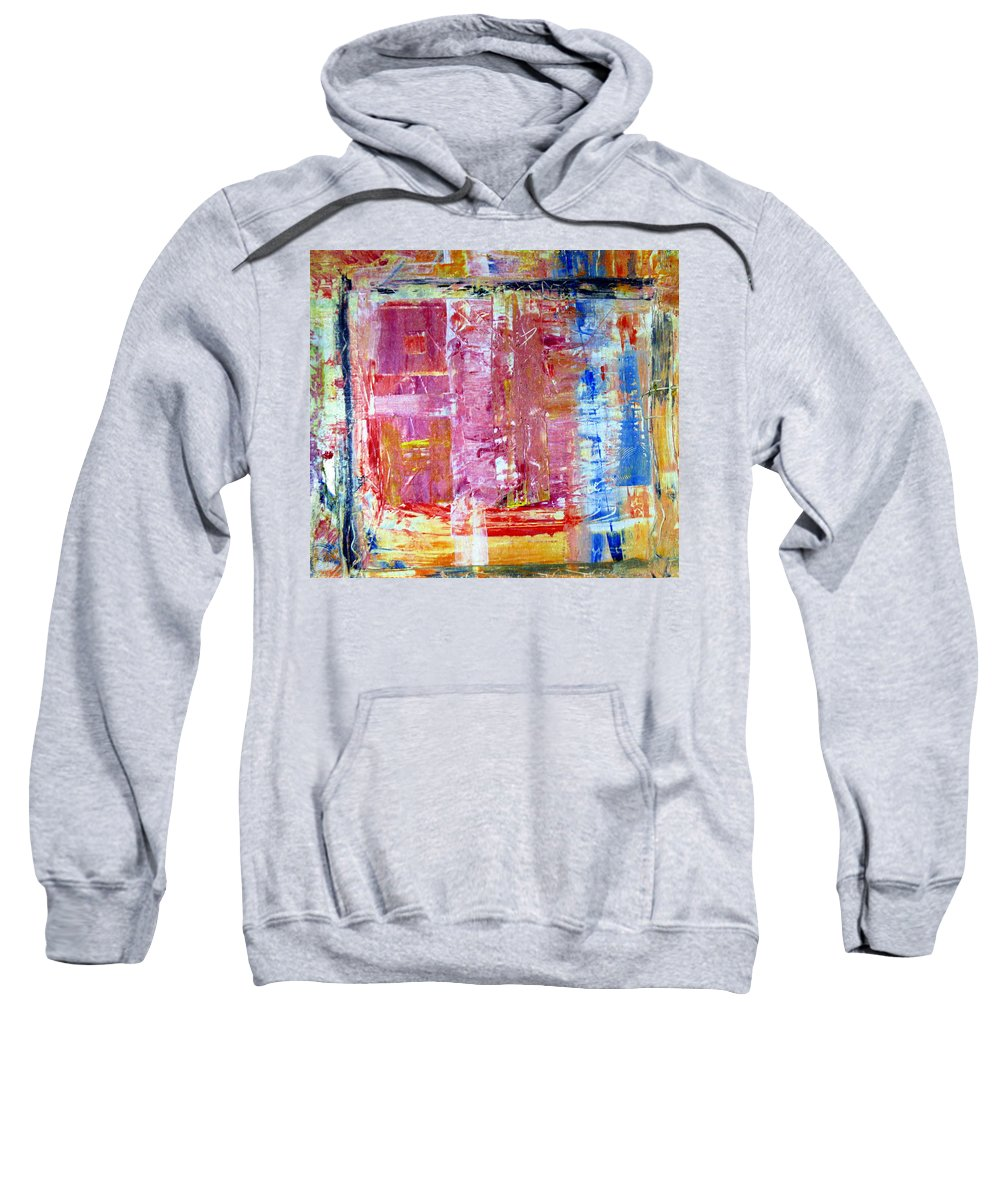 Abstract Sweatshirt featuring the painting Morning by Wayne Potrafka