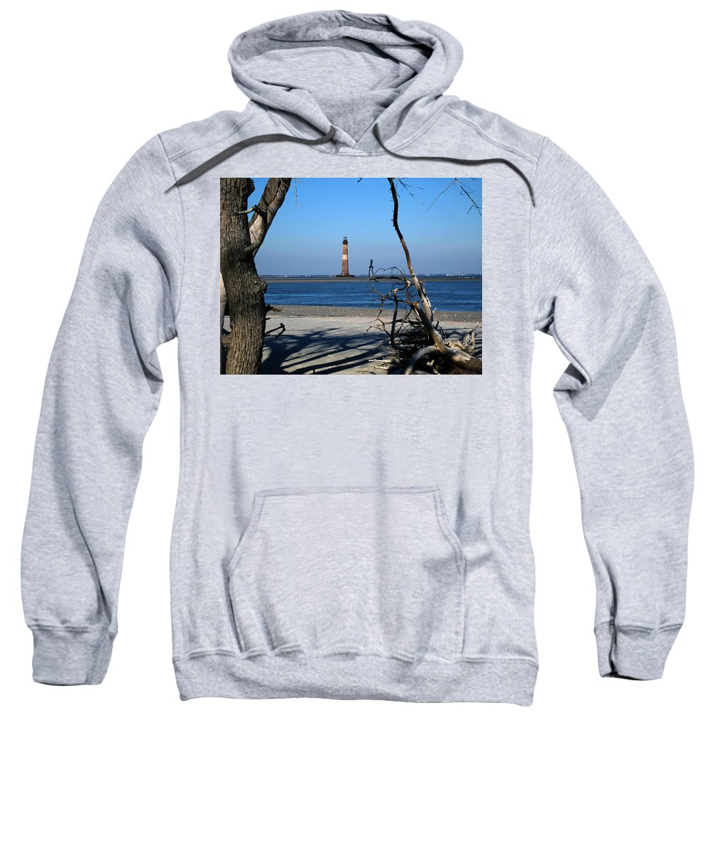 Photography Sweatshirt featuring the photograph Morris Island Lighthouse Charleston Sc by Susanne Van Hulst
