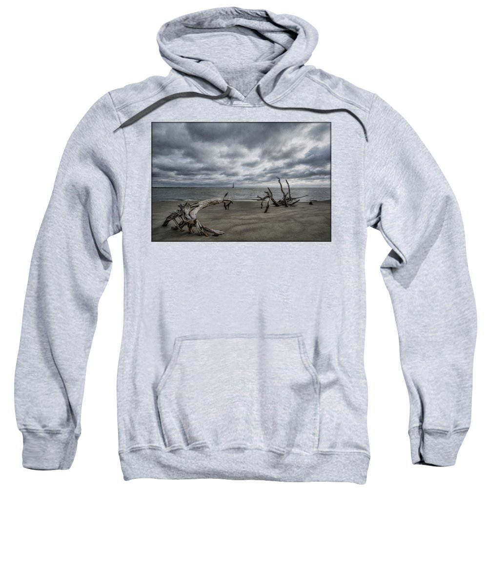 Folly Beach Sweatshirt featuring the photograph Morris Island Lighthouse by Erika Fawcett