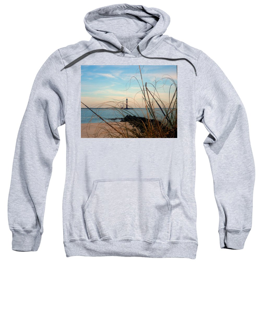 Photography Sweatshirt featuring the photograph Morris Island Lighthouse In Charleston Sc by Susanne Van Hulst