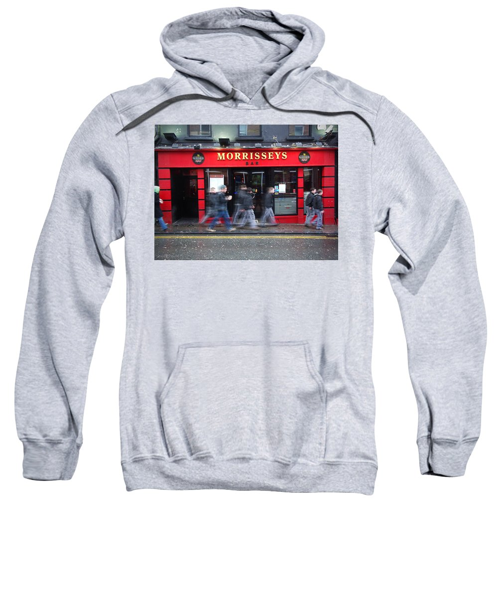 Pub Sweatshirt featuring the photograph Morrissey by Tim Nyberg