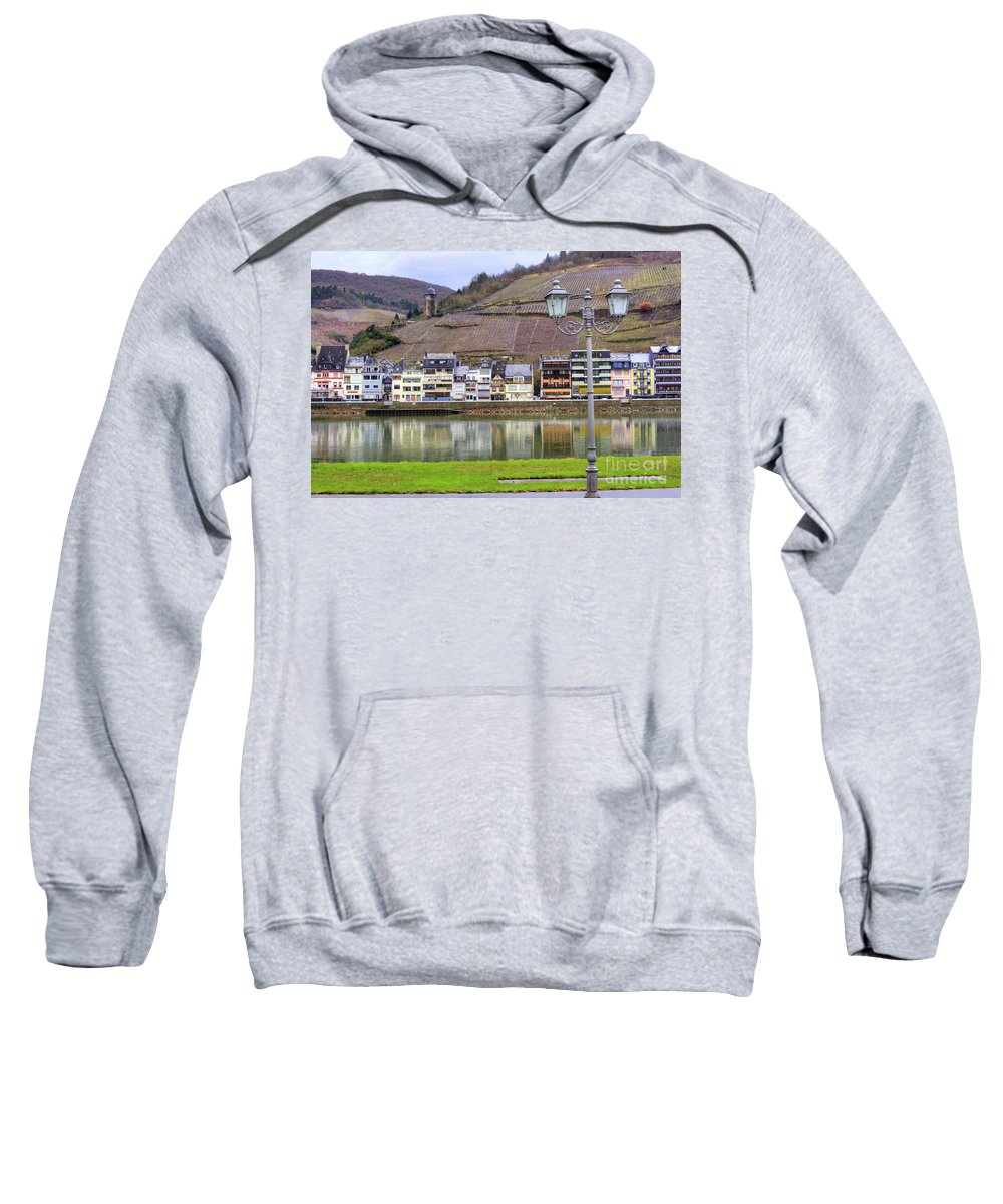 Village Sweatshirt featuring the photograph German Wine Country by Juli Scalzi
