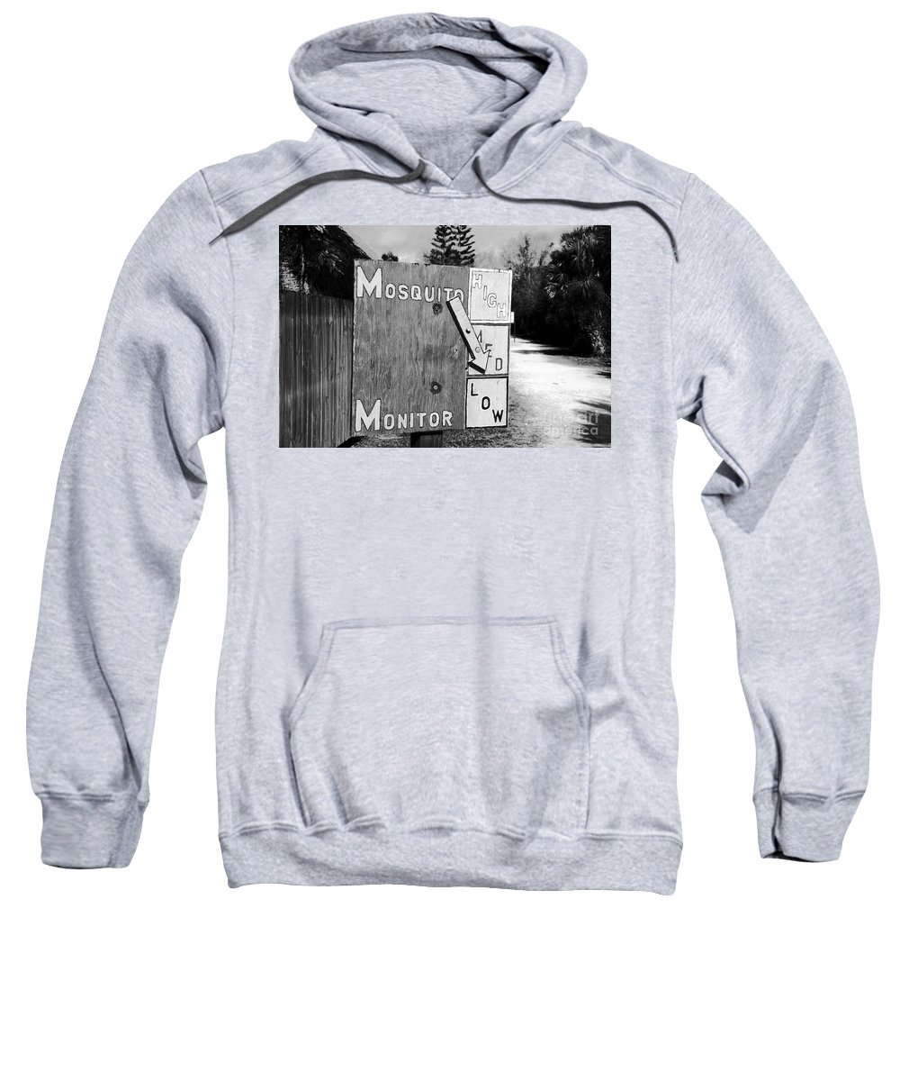 Mosquito Sweatshirt featuring the photograph Mosquito Monitor by David Lee Thompson
