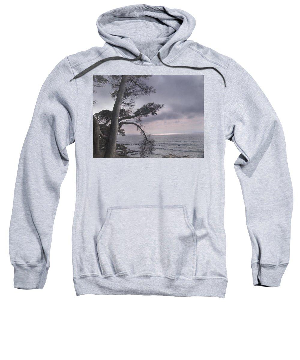 Ocean Sweatshirt featuring the photograph Moss Beach by Karen W Meyer