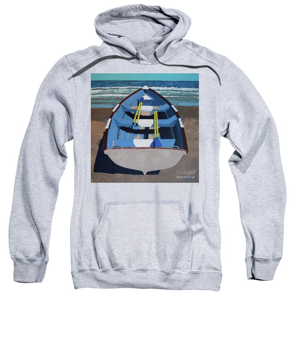 Rowboat Sweatshirt featuring the painting Mostly Sunny by Elisabeth Olver