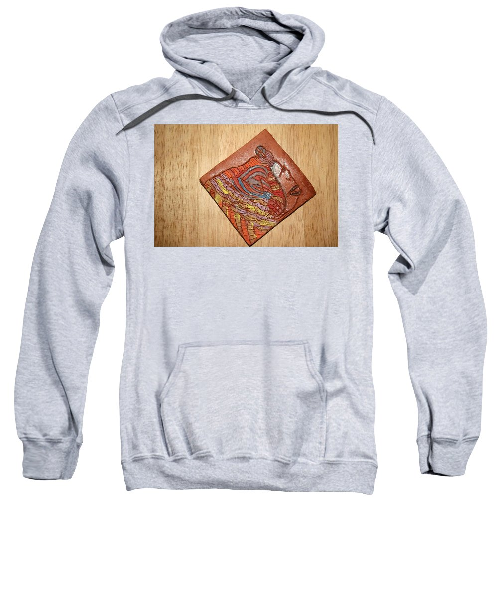 Jesus Sweatshirt featuring the ceramic art Mother Mary - Tile by Gloria Ssali