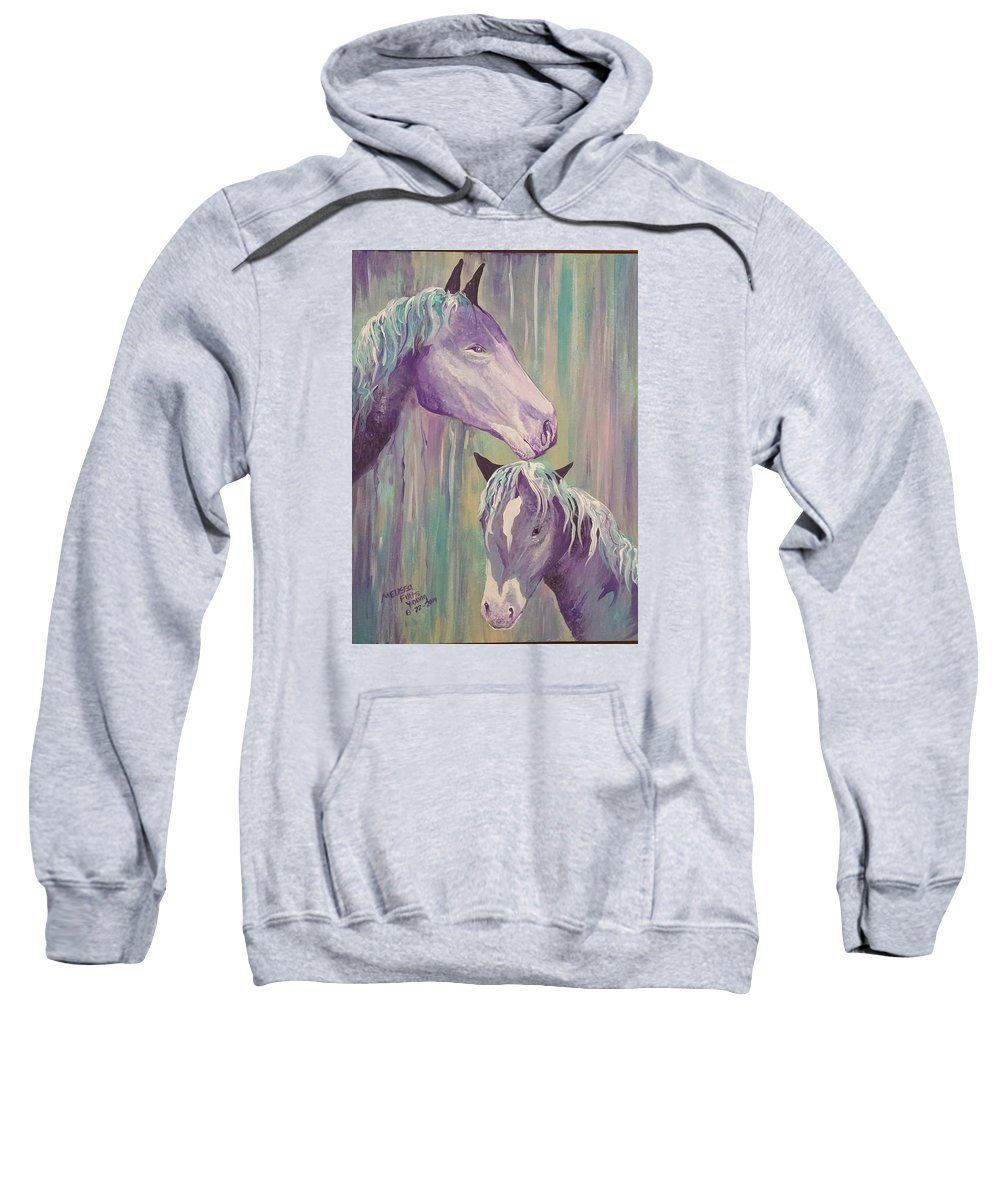 Motherly Love. Sweatshirt featuring the painting Motherly Love by Melissa Young