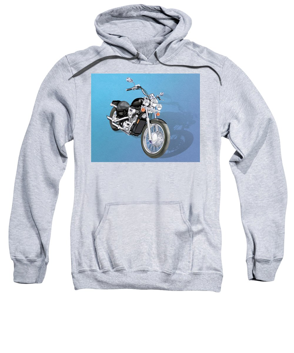 Motorcycle Sweatshirt featuring the digital art Motorcycle by Linda Carruth