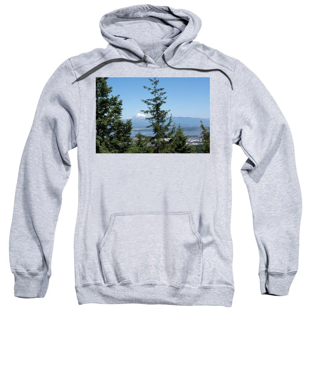 Washington Sweatshirt featuring the photograph Mount Baker by Linda Kerkau