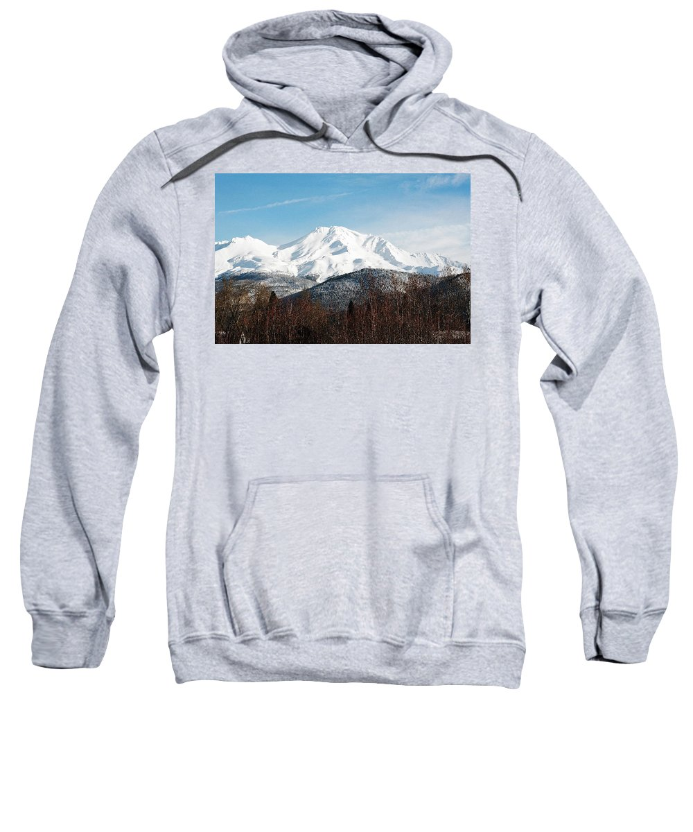 Mount Shasta Sweatshirt featuring the photograph Mount Shasta by Anthony Jones