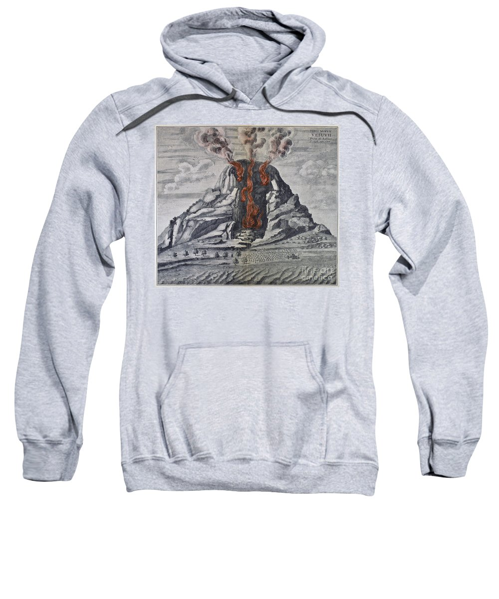 1665 Sweatshirt featuring the photograph Mount Vesuvius, 1665 by Granger