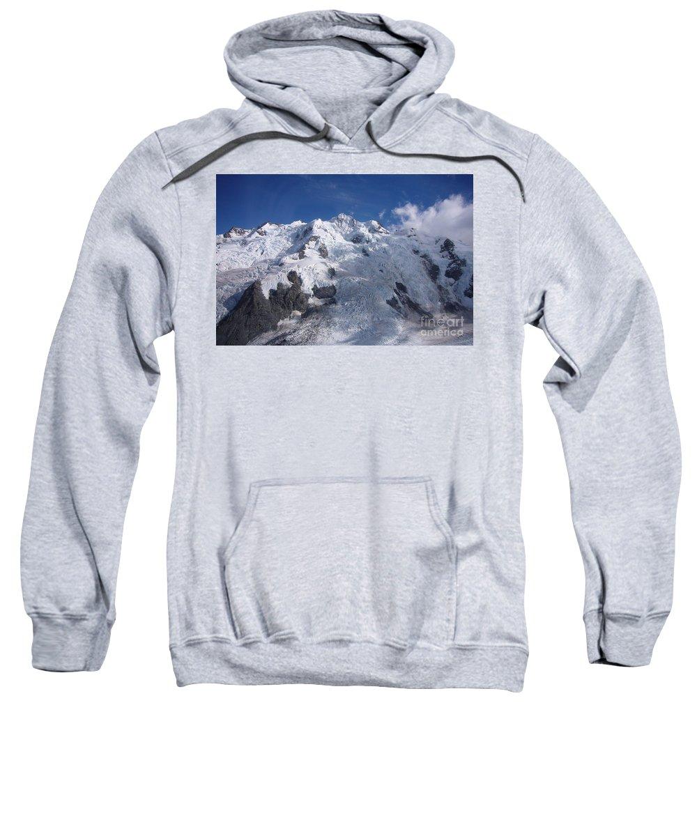 Mountain Sweatshirt featuring the photograph Mountain Cloud Scape by Bernard Tischendorf