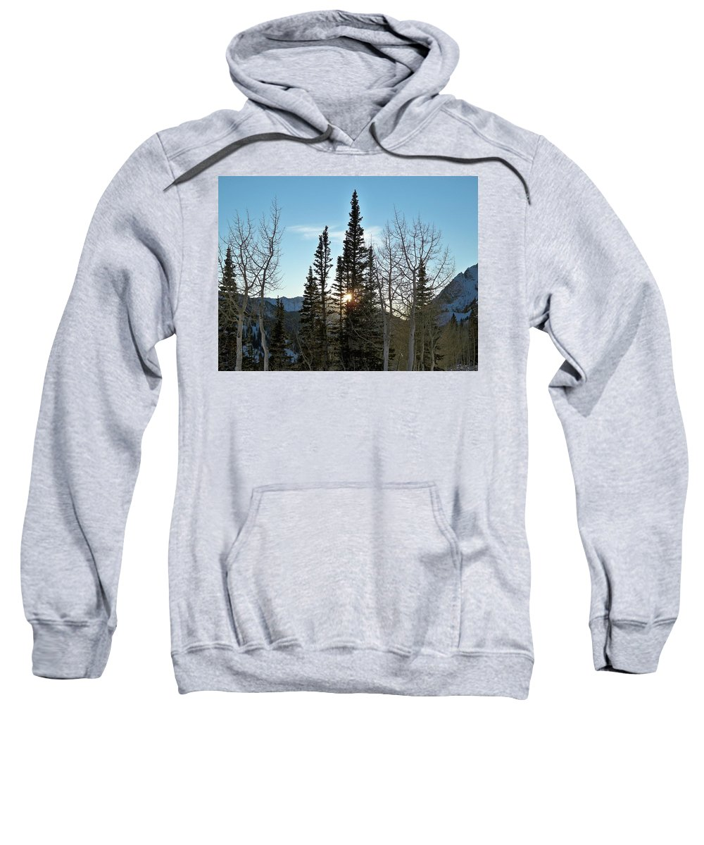 Rural Sweatshirt featuring the photograph Mountain Sunset by Michael Cuozzo