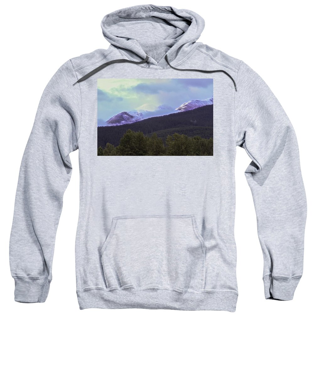 Blackcomb Peak Sweatshirt featuring the photograph Mountain Top by Wes Jimerson