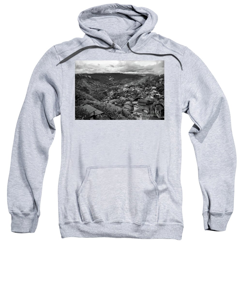 Baguio City Sweatshirt featuring the photograph Mountain Valley by Donald Carr