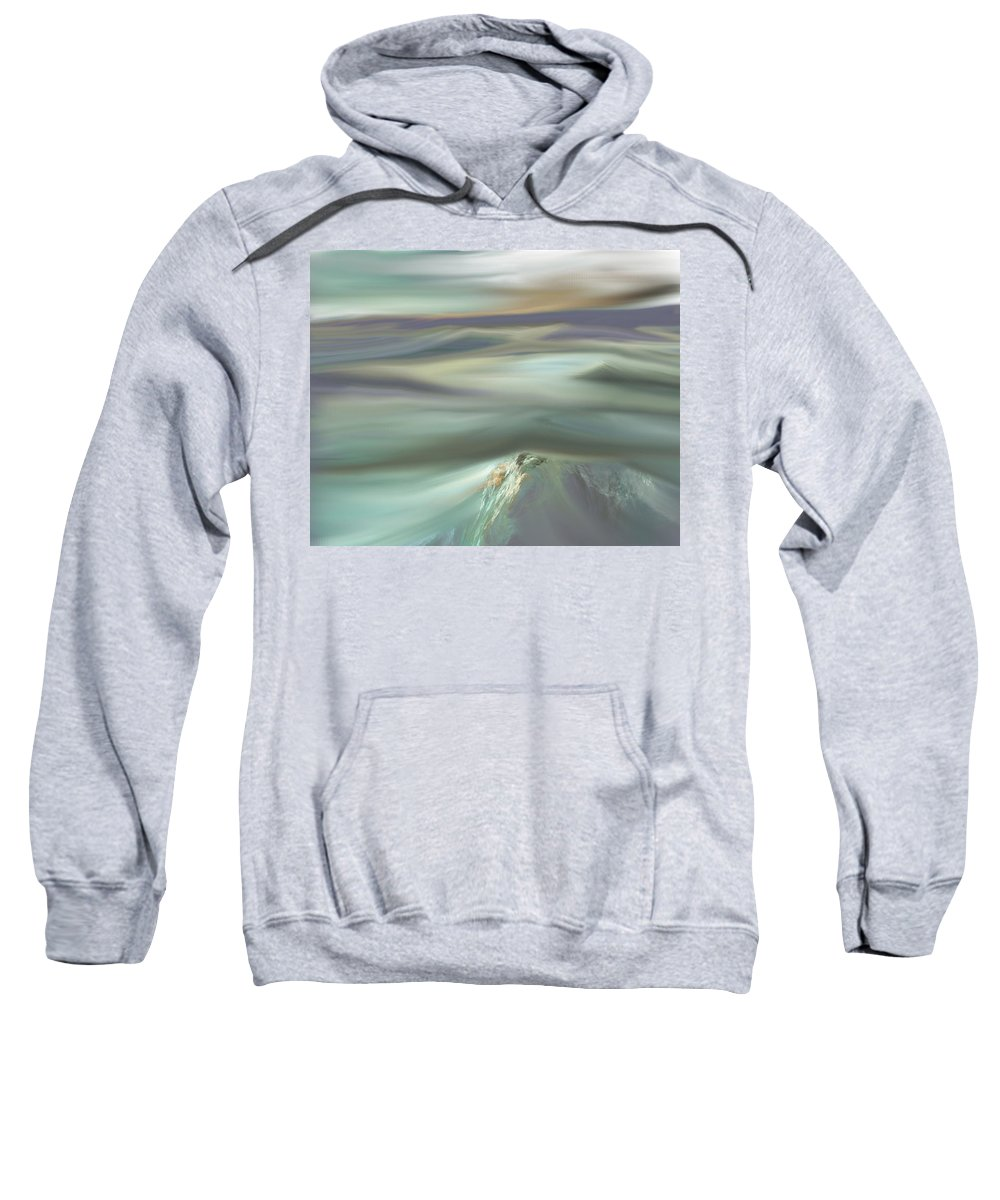 Fine Art Sweatshirt featuring the digital art Mountain View by David Lane
