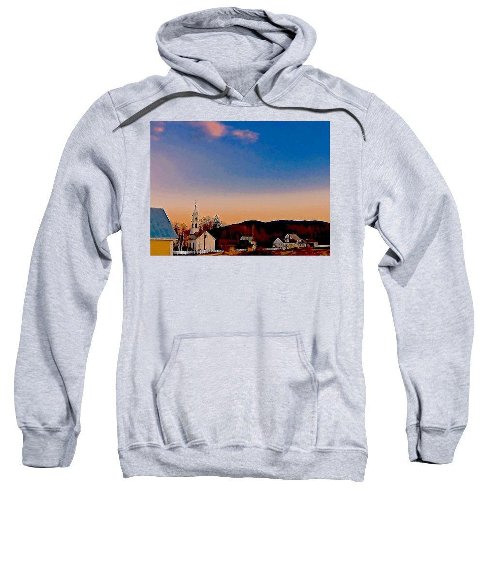 Village Scene Sweatshirt featuring the photograph Mountain Village 2 by Elizabeth Tillar