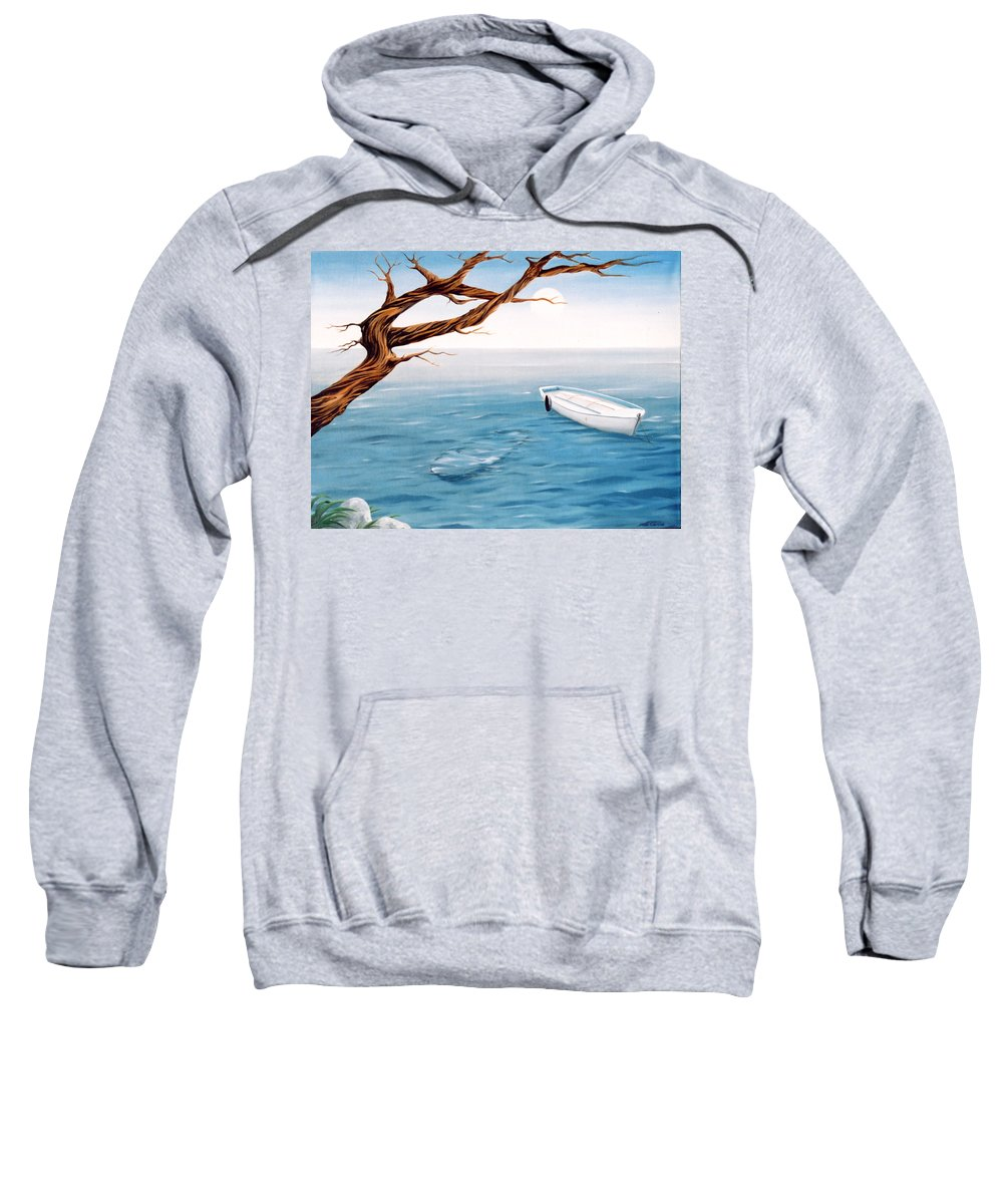 Seascape Prints Sweatshirt featuring the painting Mourning Spring by Mark Cawood