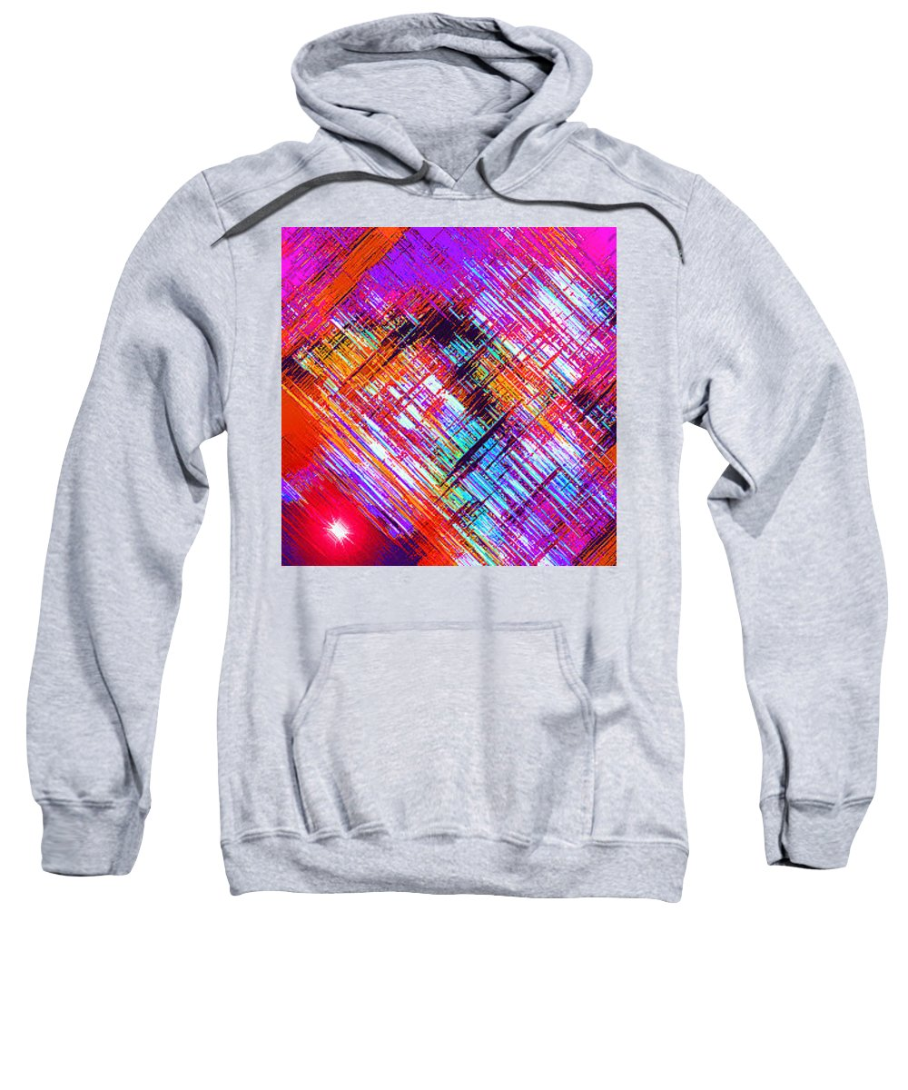 Moveonart! Digital Gallery Sweatshirt featuring the digital art Moveonart A Night On The Town by Jacob Kanduch