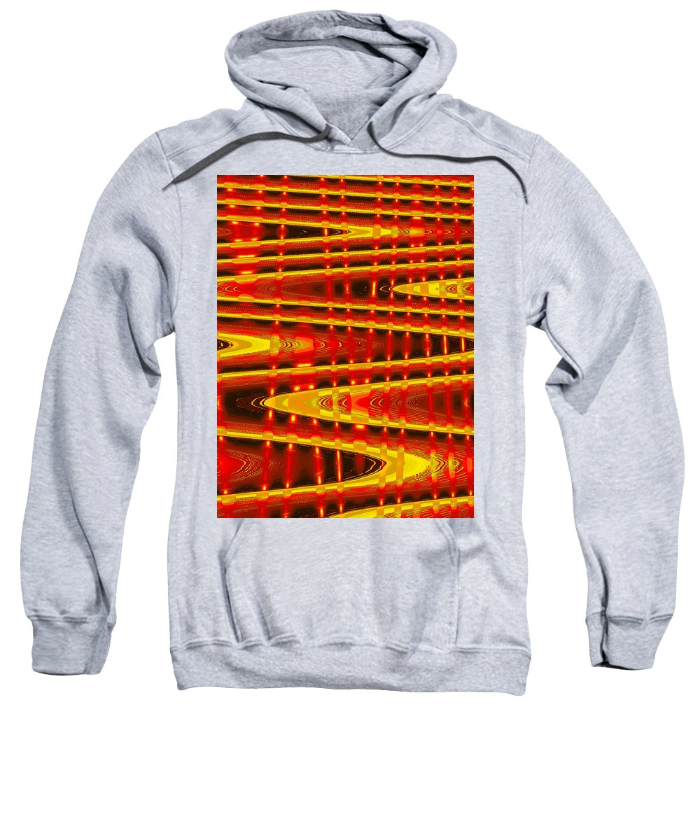 Moveonart! Digital Gallery Sweatshirt featuring the digital art Moveonart Abstract Waves And Light Five by Jacob Kanduch