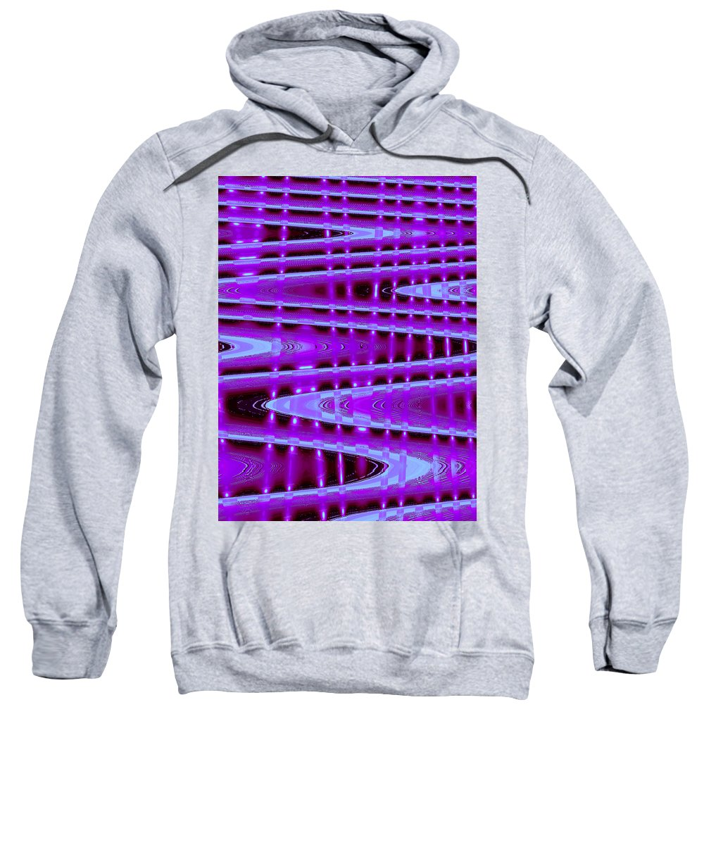 Moveonart! Digital Gallery Sweatshirt featuring the digital art Moveonart Abstract Waves And Light Seven by Jacob Kanduch