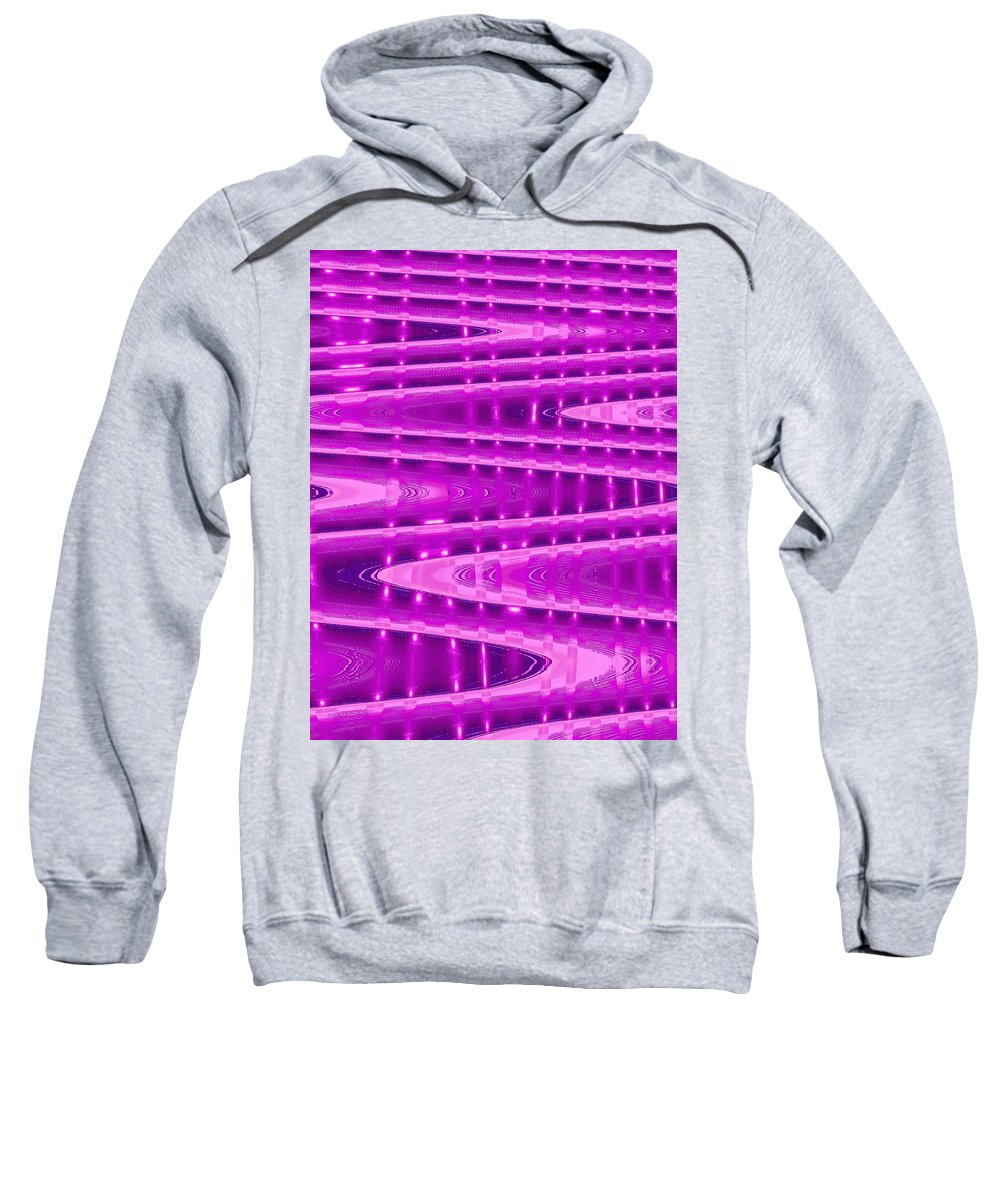 Moveonart! Digital Gallery Sweatshirt featuring the digital art Moveonart Abstract Waves And Light Six by Jacob Kanduch