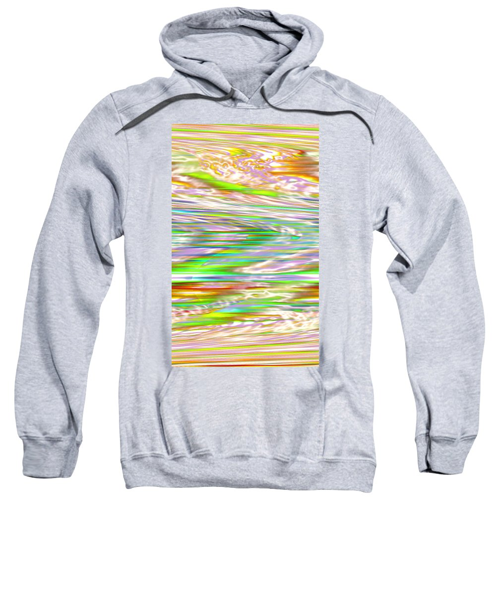 Moveonart! Digital Gallery Sweatshirt featuring the digital art Moveonart Ancient Future Dreaming by Jacob Kanduch