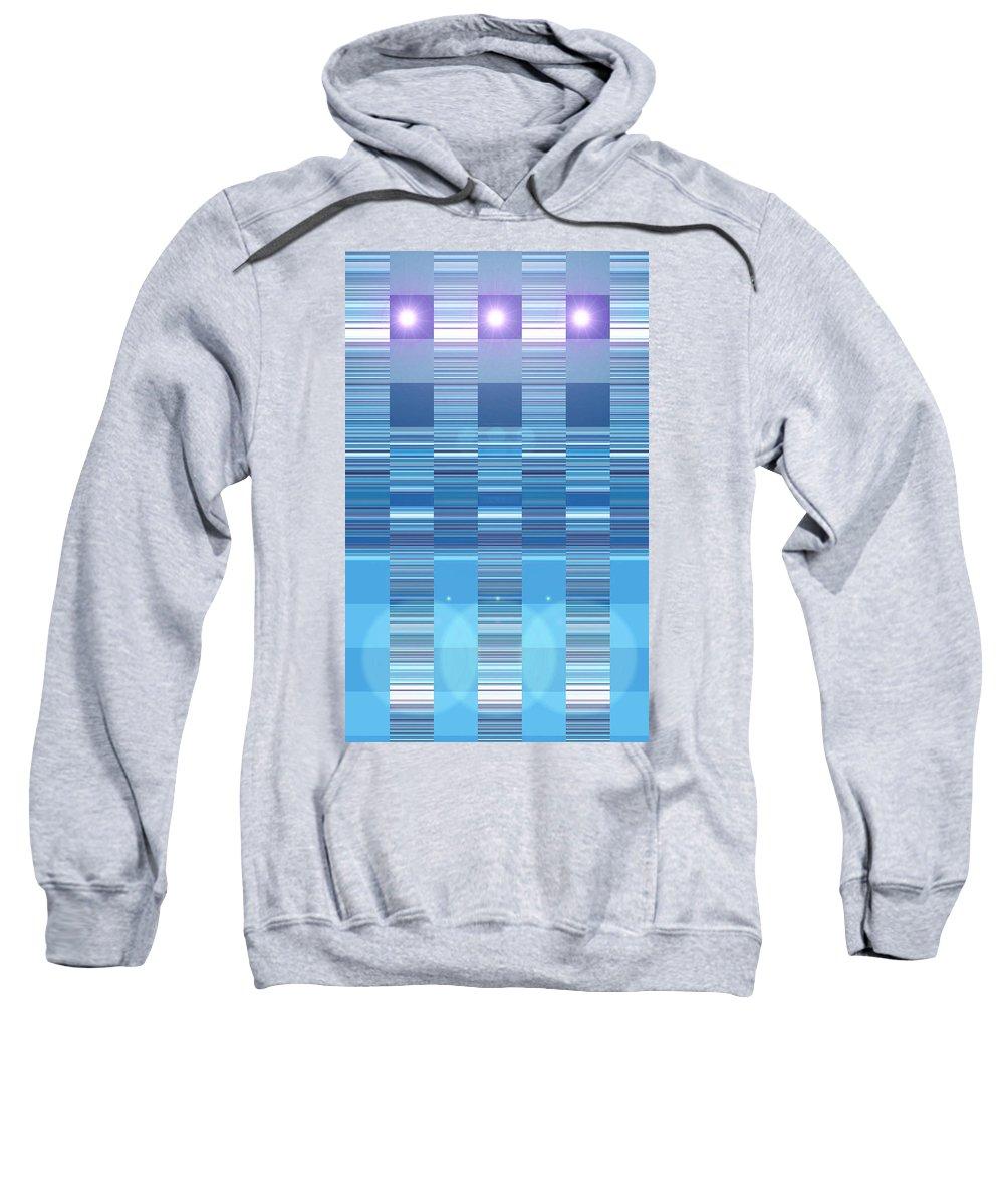 Moveonart! Digital Gallery Sweatshirt featuring the digital art Moveonart Aqua Program Four by Jacob Kanduch