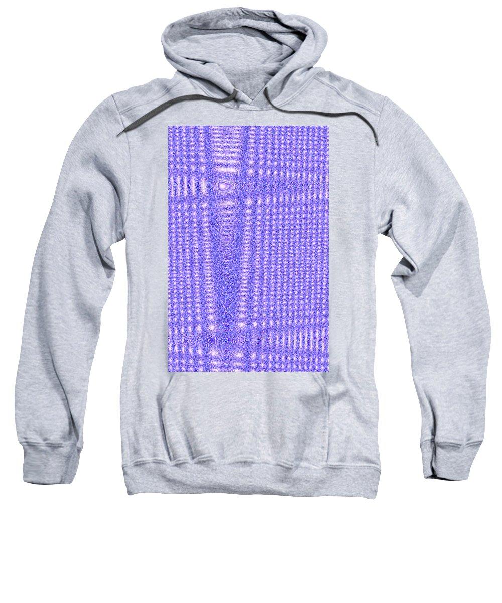Moveonart! Digital Gallery Sweatshirt featuring the digital art Moveonart Blue Cross Cords by Jacob Kanduch
