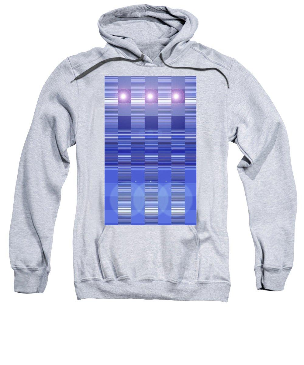 Moveonart! Digital Gallery Sweatshirt featuring the digital art Moveonart Blue Program One by Jacob Kanduch