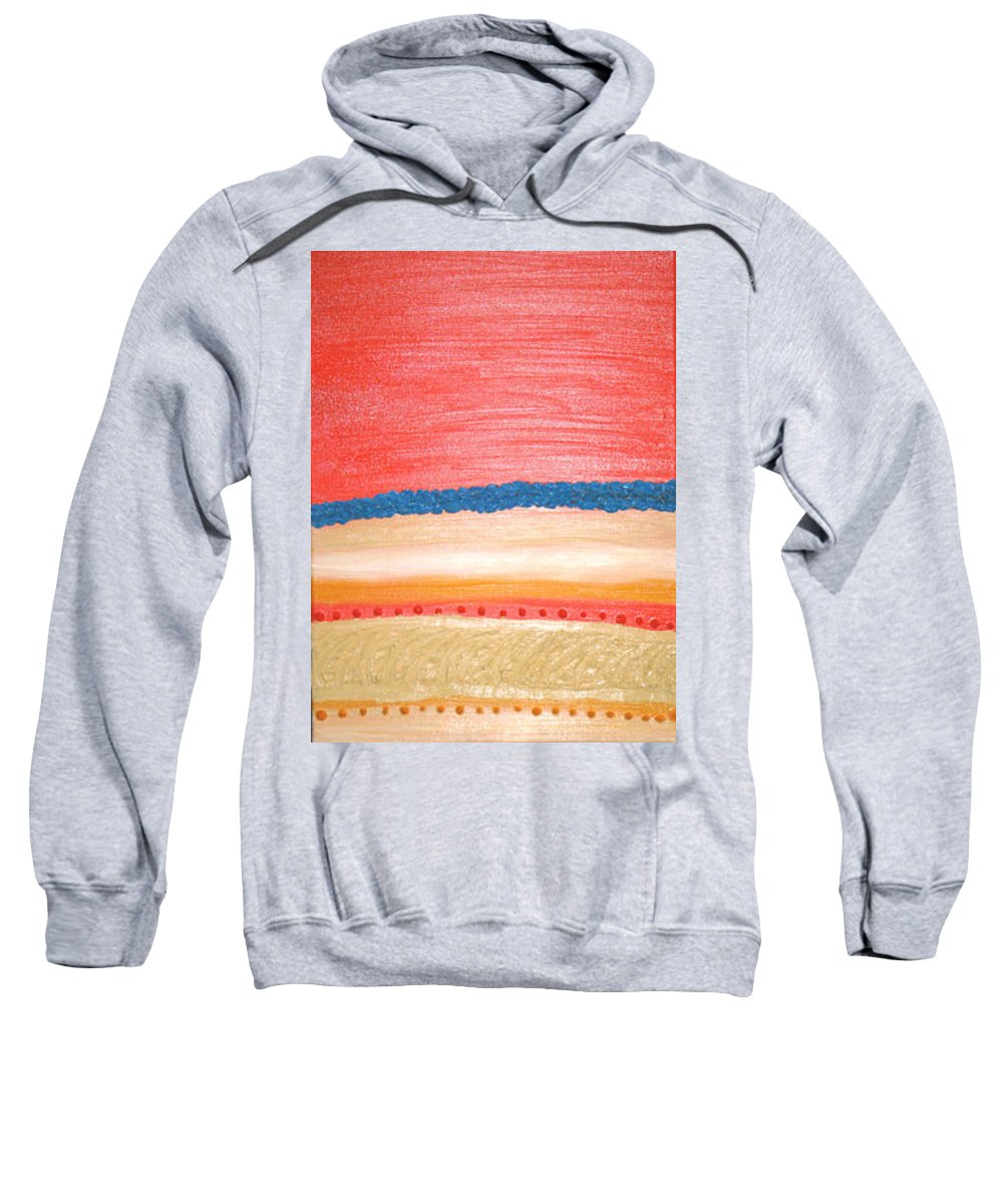 Moveonart! Digital Gallery Sweatshirt featuring the painting Moveonart California Sunset by Jacob Kanduch