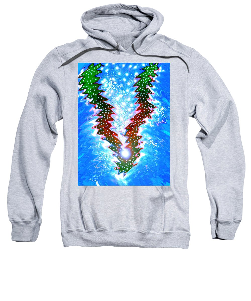 Moveonart! Digital Gallery Sweatshirt featuring the digital art Moveonart Christmas 2009 Collection Victory Tree by Jacob Kanduch