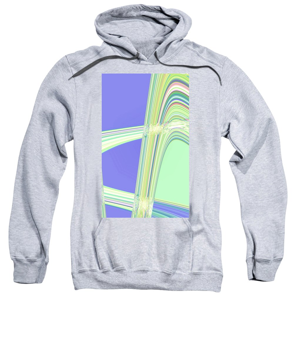 Moveonart! Digital Gallery Sweatshirt featuring the digital art Moveonart Clean Me Up Wave by Jacob Kanduch