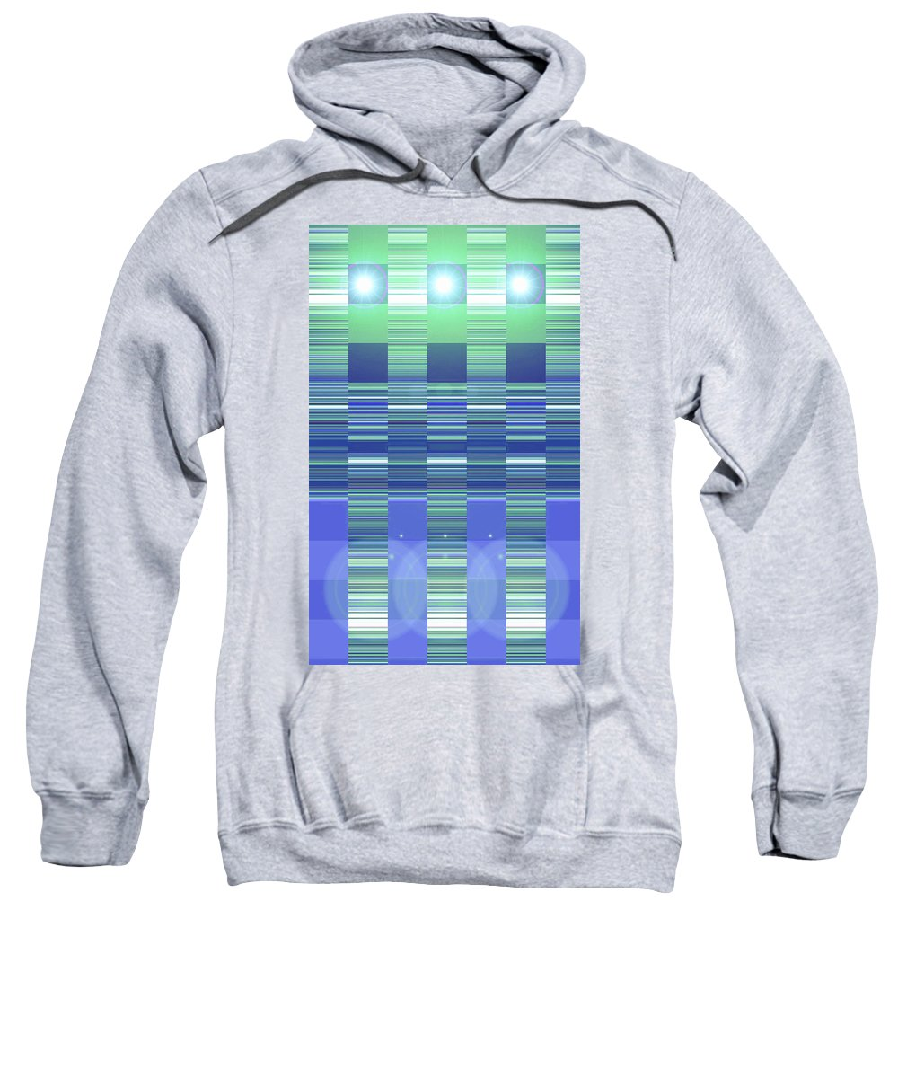 Moveonart! Digital Gallery Sweatshirt featuring the digital art Moveonart Color Duo Program Two by Jacob Kanduch